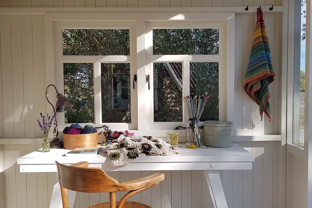 Het draaibaar tuinhuisje, Zonnehuisje, als atelier
