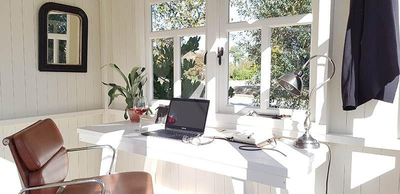 Het draaibaar tuinhuisje, Zonnehuisje, als thuiskantoor